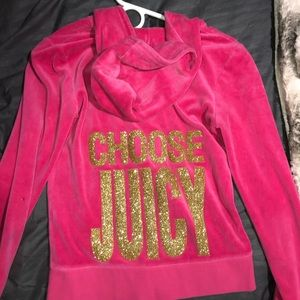 Juicy Couture Pink Zip Up Sweater Size Small